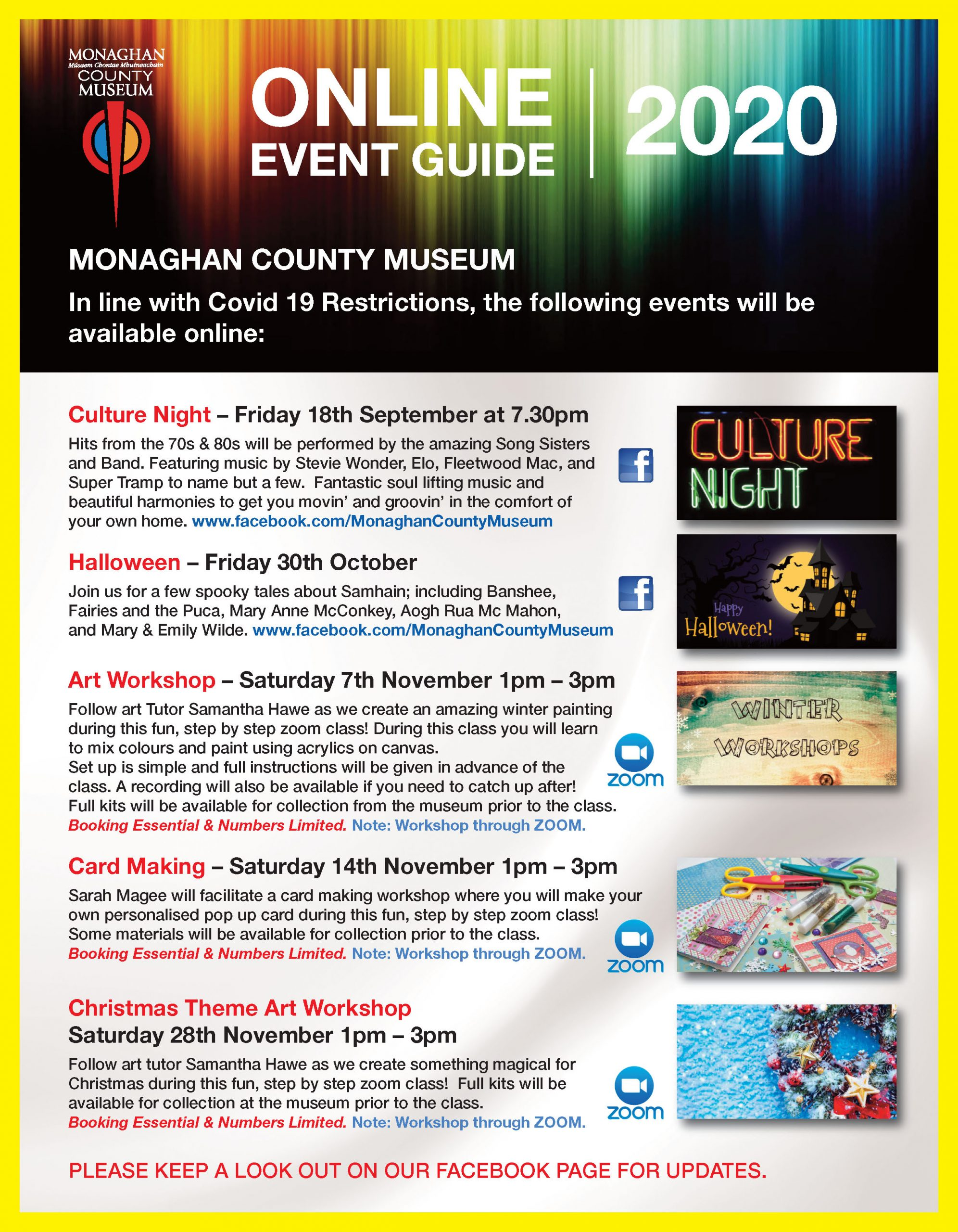 Monaghan County Museum Online Event Guide