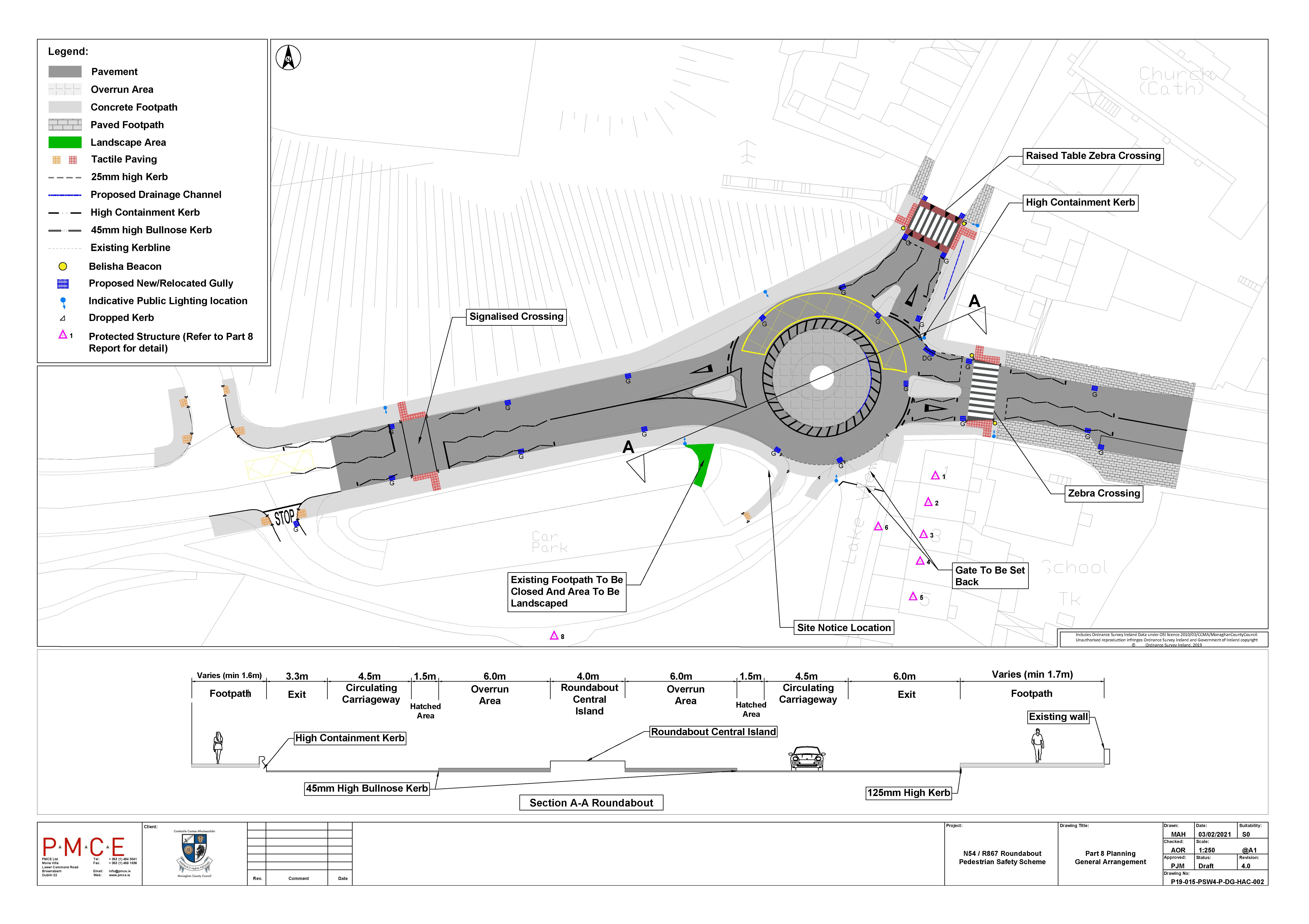 N54/R867 Roundabout Pedestrian Safety Scheme- Part 8