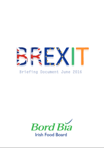 Bord Bia Brexit Briefing Document