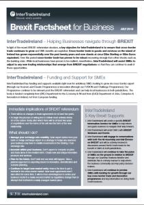 IntertradeIreland Brexit Fact sheet for business: