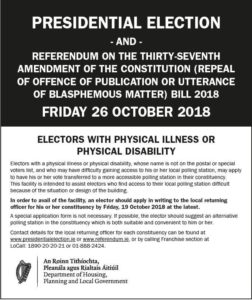 Electors with Physical Illness or Physical Disability Information