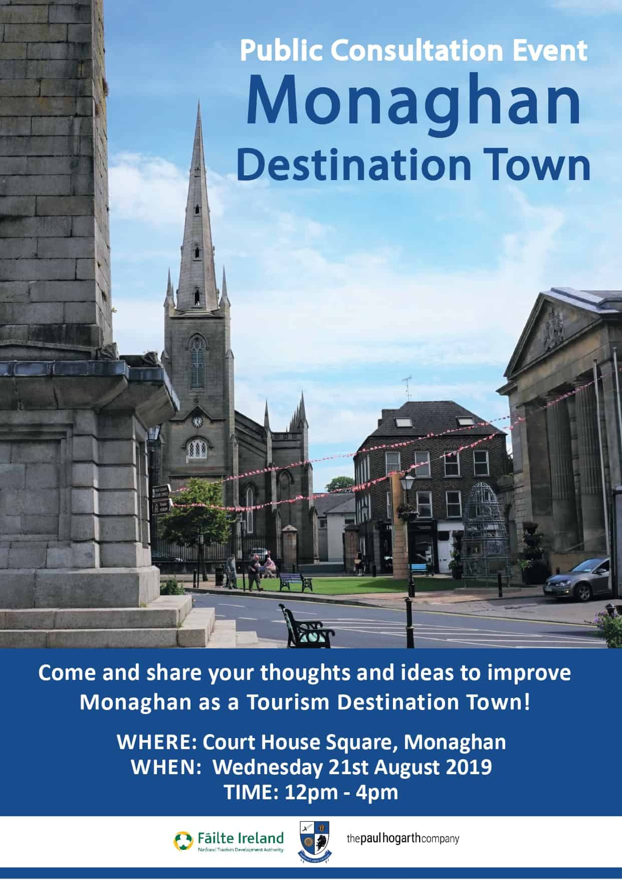 Monaghan - Destination Towns Public Consultation Event Wednesday 21st August 2019