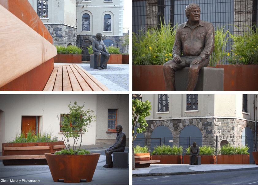 Enhancement works recently completed at the Big Tom Statue, Muckno Street, Castleblayney.