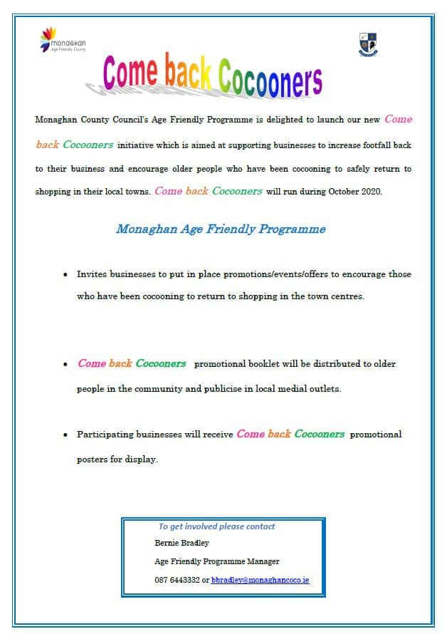 Monaghan County Council's Age Friendly Programme: Come back Cocooners Initiative